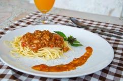 Espaguetes Fotografia de Stock