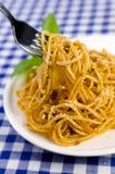Espaguetes Bolognaise Imagens de Stock