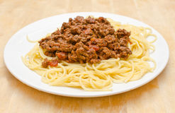 Espaguetes Bolognaise fotografia de stock royalty free