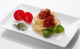 Espaguetes Bolognaise Fotos de Stock