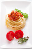 Espaguetes Bolognaise Fotografia de Stock