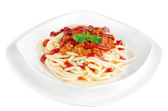 Espaguetes Bolonhês Fotografia de Stock Royalty Free
