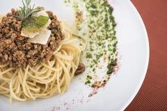 Espaguetes bolonhês com Parmesão 11 Imagem de Stock Royalty Free