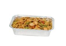 Espaguetes Bolonhês sobre o branco Fotografia de Stock