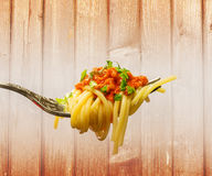 Espaguetes bolonheses Fotos de Stock Royalty Free