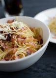 Espaguetes Carbonara Fotos de Stock