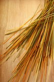 Espaguetes coloridos no fundo de madeira Imagens de Stock
