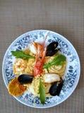 Espaguetes com mariscos Imagens de Stock Royalty Free