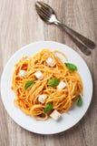 Espaguetes com molho de tomate Imagens de Stock Royalty Free