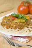 Espaguetes com molho da carne Imagens de Stock Royalty Free