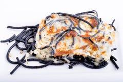 Espaguetes com queijo cozido Imagens de Stock Royalty Free