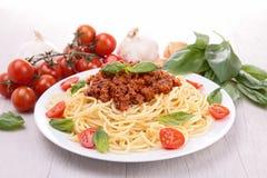 Espaguetes com tomate fotografia de stock royalty free