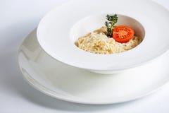 Espaguetes com tomate e queijo Imagem de Stock
