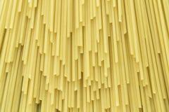 Espaguetes crus da massa Fotos de Stock Royalty Free