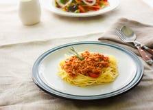 Espaguetes da massa Foto de Stock