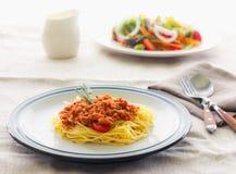 Espaguetes da massa Imagens de Stock