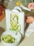 Espaguetes do abobrinha Imagem de Stock Royalty Free