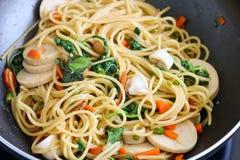 Espaguetes dos pimentões Imagens de Stock Royalty Free