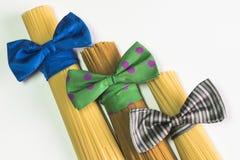 Espaguetes, estilo do italiano da massa Fotos de Stock Royalty Free