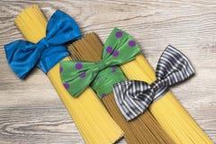 Espaguetes, estilo do italiano da massa Imagens de Stock Royalty Free