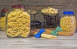 Espaguetes, estilo do italiano da massa Imagens de Stock