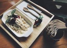 Espaguetes gelados Imagem de Stock Royalty Free
