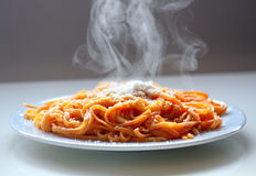 Espaguetes italianos. Imagem de Stock