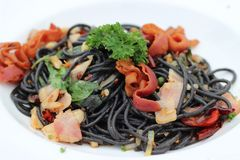 espaguetes, massa, alimento, asiático, Tailândia, Banguecoque fotos de stock royalty free