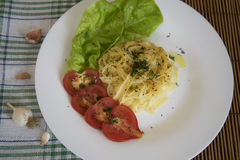 Espaguetes para o jantar Foto de Stock