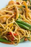 Espaguetes picantes fritados agitação Imagens de Stock Royalty Free
