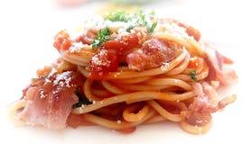 Espaguetes referentes à cultura norte-americana Fotos de Stock Royalty Free