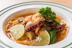Espaguetes tom yum foto de stock royalty free