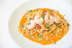 Espaguetes tom yum Fotografia de Stock