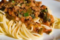 Espagueti Foto de archivo
