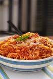 Espagueti boloñés Fotografía de archivo libre de regalías