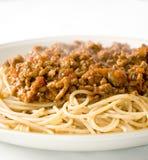Espagueti boloñés 3 Imagen de archivo libre de regalías