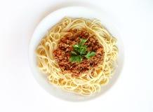 Espagueti boloñés fotos de archivo