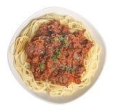 Espagueti boloñés foto de archivo libre de regalías