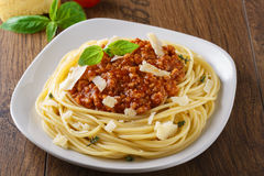 Espagueti boloñés Foto de archivo