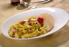 Espagueti cocinado Fotografía de archivo