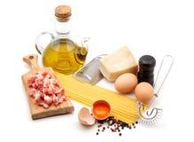 Espagueti de Carbonara foto de archivo libre de regalías