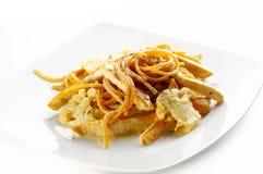 Espagueti de la soja Foto de archivo libre de regalías