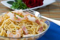 Espagueti de los mariscos Fotografía de archivo libre de regalías