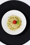 Espagueti de Pesto Imágenes de archivo libres de regalías