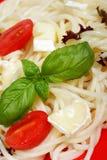Espagueti del alimento de la dieta Foto de archivo