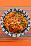 Espagueti delicioso fotografía de archivo libre de regalías