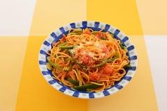 Espagueti delicioso foto de archivo libre de regalías