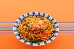 Espagueti delicioso imagen de archivo libre de regalías
