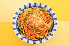 Espagueti delicioso fotografía de archivo