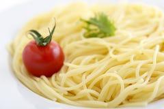 Espagueti delicioso fotos de archivo